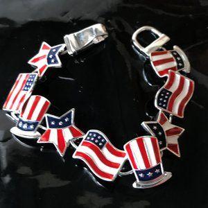 Patriotic Bracelet American Flag Uncle Sam New